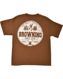 Browning Youth Boys' Brown Buckmark T-Shirt , , hi-res