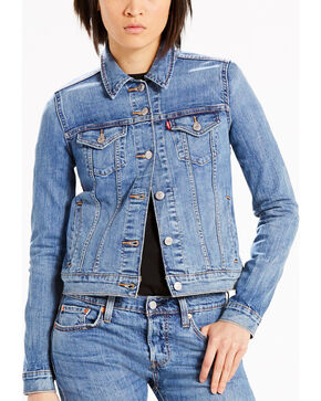 Levi's Women's Blue Original Trucker Denim Jacket , Blue, hi-res