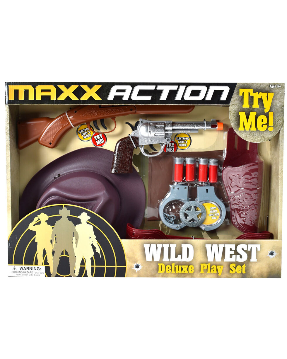 Maxx Action Blaze Wild West Deluxe Playset, Brown, hi-res