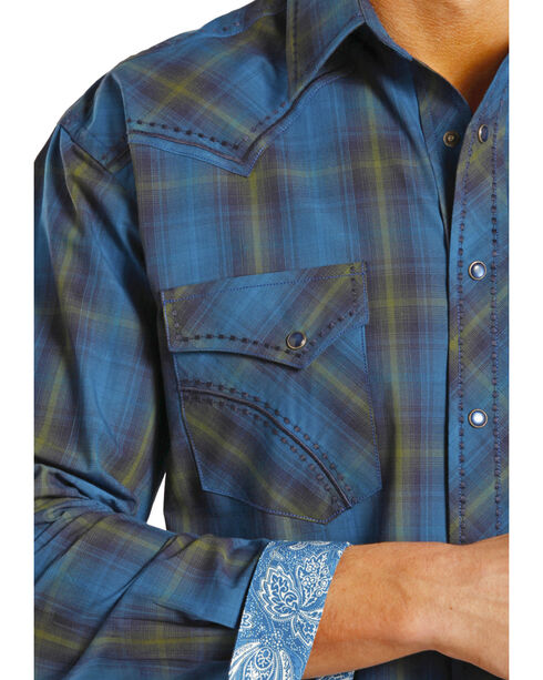 Rough Stock by Panhandle Slim Kentsdale Plaid Western Snap Shirt , Plaid, hi-res