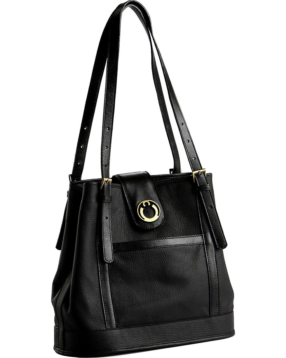Designer Concealed Carry Black Palisade Tote Bag, Black, hi-res