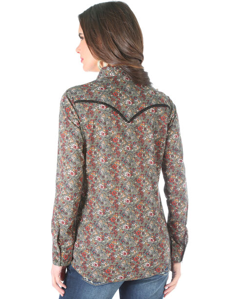 Wrangler Women's Floral Pattern Long Sleeve Shirt , Multi, hi-res