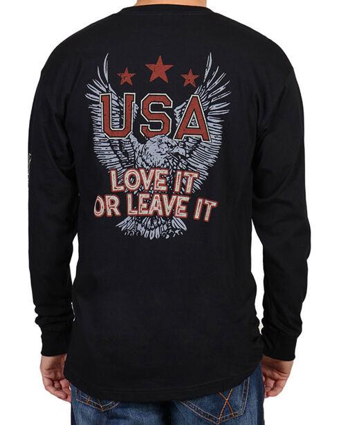 Cody James® Men's Love It or Leave It Long Sleeve Tee, Black, hi-res