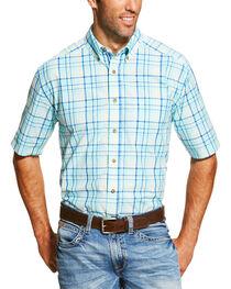 Ariat Men's Blue Ivan Short Sleeve Shirt - Big and Tall  , , hi-res