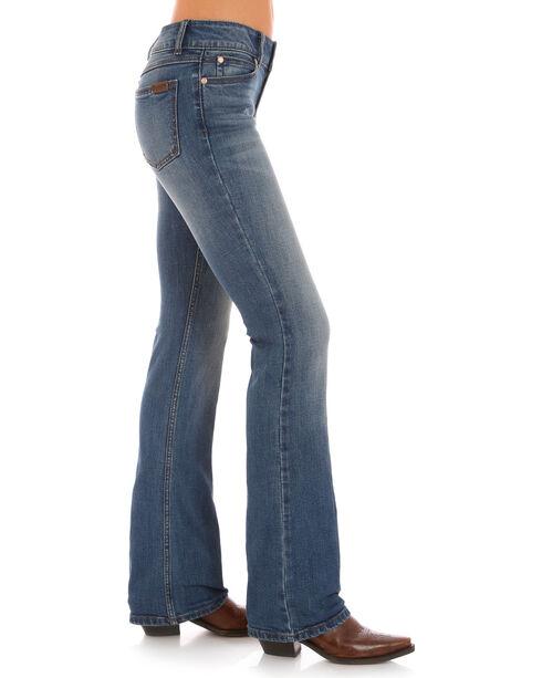 Wrangler Retro Women's Indigo Clean Pocket Mae Jeans - Boot Cut , Indigo, hi-res