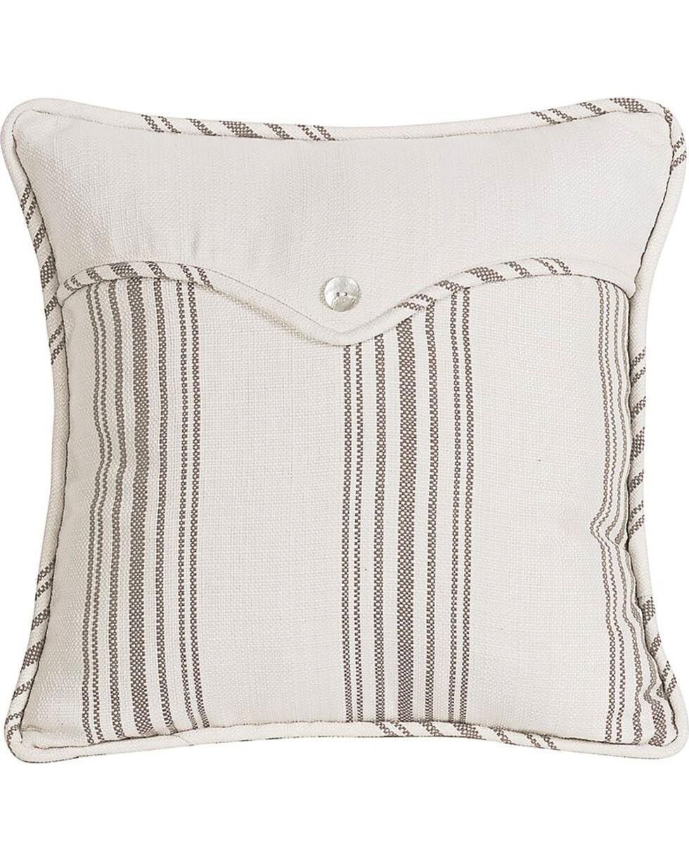HiEnd Accents Multi Gramercy Square Linen Weave Envelope Pillow, Multi, hi-res