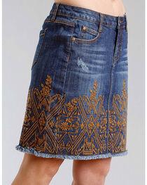 Stetson Women's Embroidered 5 Pocket Denim Skirt, , hi-res