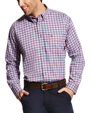 Ariat Men's FR Mercer Long Sleeve Plaid Work Shirt, Multi, hi-res