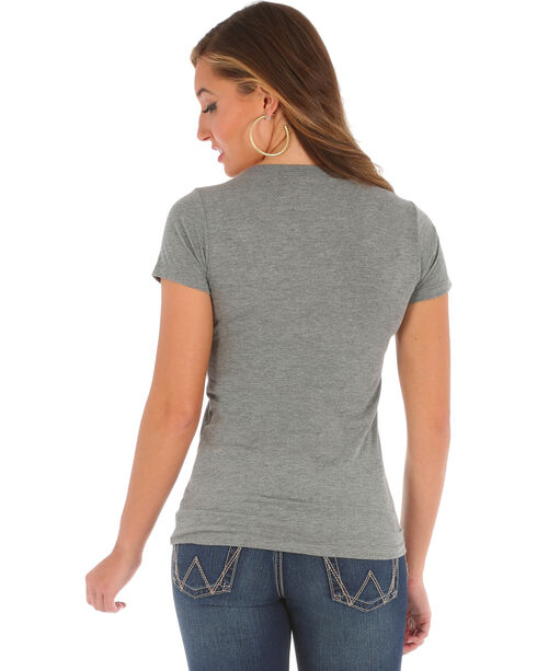 Wrangler Women's Short Sleeve Graphic Tee, Grey, hi-res