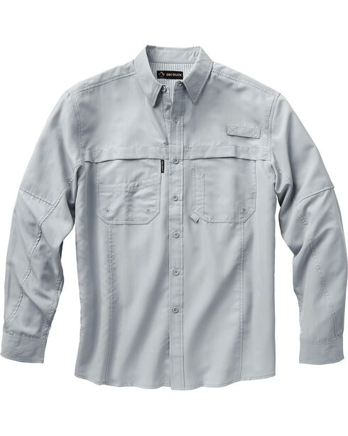 Dri Duck Men's Catch Long Sleeve Shirt, Grey, hi-res