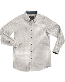 Cody James Boys' Starburst Patterned Long Sleeve Shirt, , hi-res