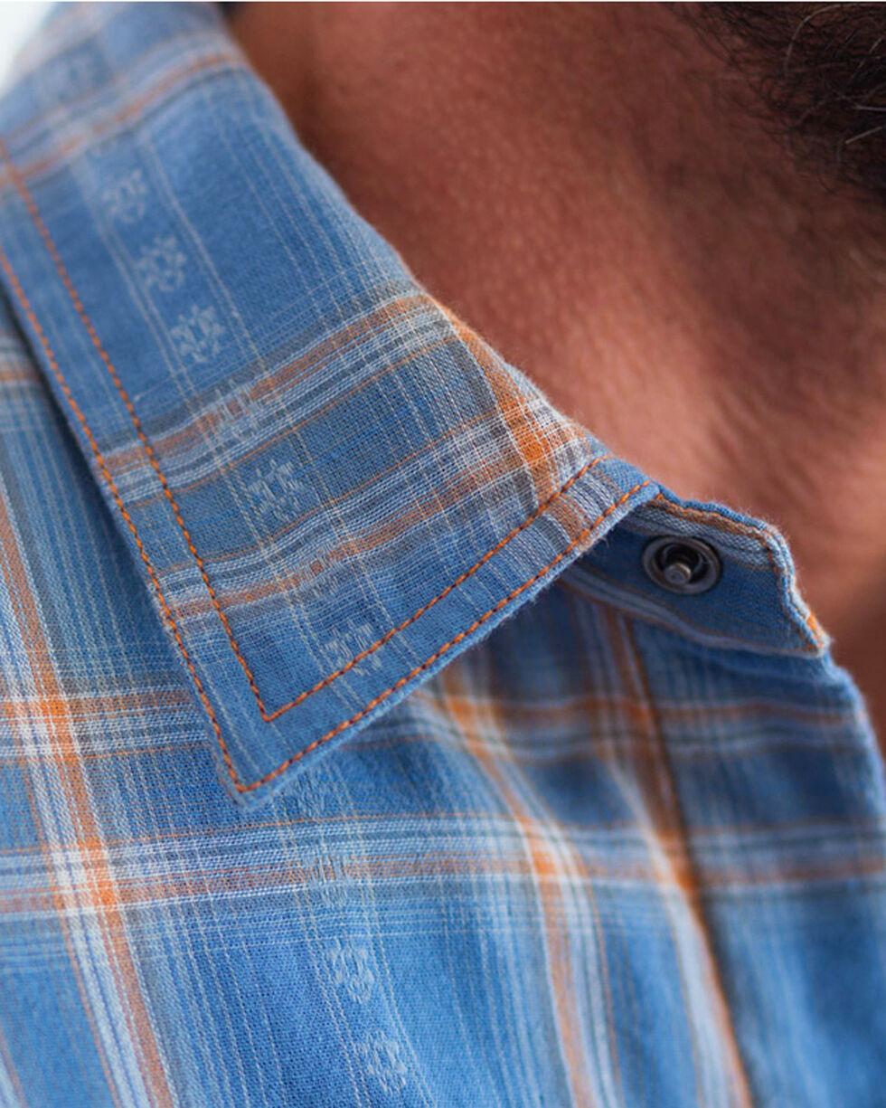 Ryan Michael Men's Sky Plaid Short Sleeve Shirt, Blue, hi-res