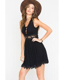 Blush Noir Women's Lace Up Dress , , hi-res
