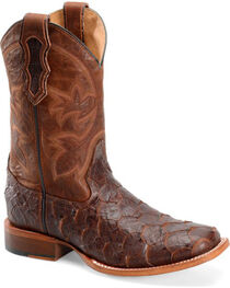 Double H Men's Cattle Baron Sea Bass Print Western Boots, , hi-res