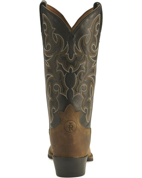 Tony Lama Men's Ranchin' Ropin' Ridin' 3R Western Boots, Walnut, hi-res