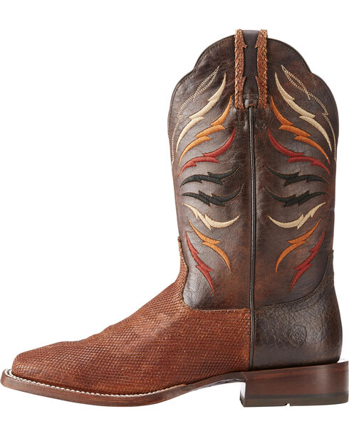 Ariat Men's Switchblade Sable/Gunfire Gray Cowboy Boots - Square Toe, Brown, hi-res