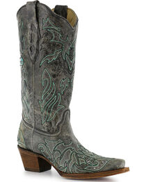 Corral Women's Cross & Crystals Snip Toe Western Boots, , hi-res
