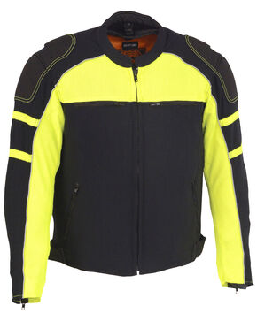 Milwaukee Leather Men's Mesh Racing Jacket with Removable Rain Jacket Liner - 5X, Bright Green, hi-res