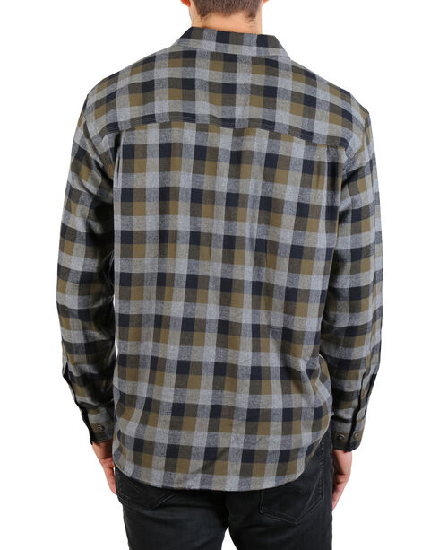 American Worker Men's Plaid Tasked Flannel Shirt , Charcoal, hi-res