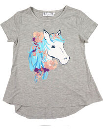 Shyanne Women's Graphic Glitter Horse Tee, , hi-res
