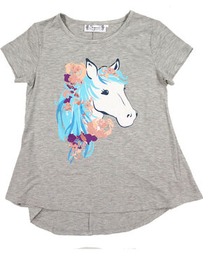 Shyanne Women's Graphic Glitter Horse Tee, Purple, hi-res