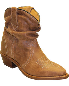 Sage by Abilene Women's Short Slouch Western Boots - Snip Toe, Tan, hi-res
