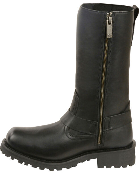 """Milwaukee Leather Women's 11"""" Classic Harness Boots - Square Toe, Black, hi-res"""