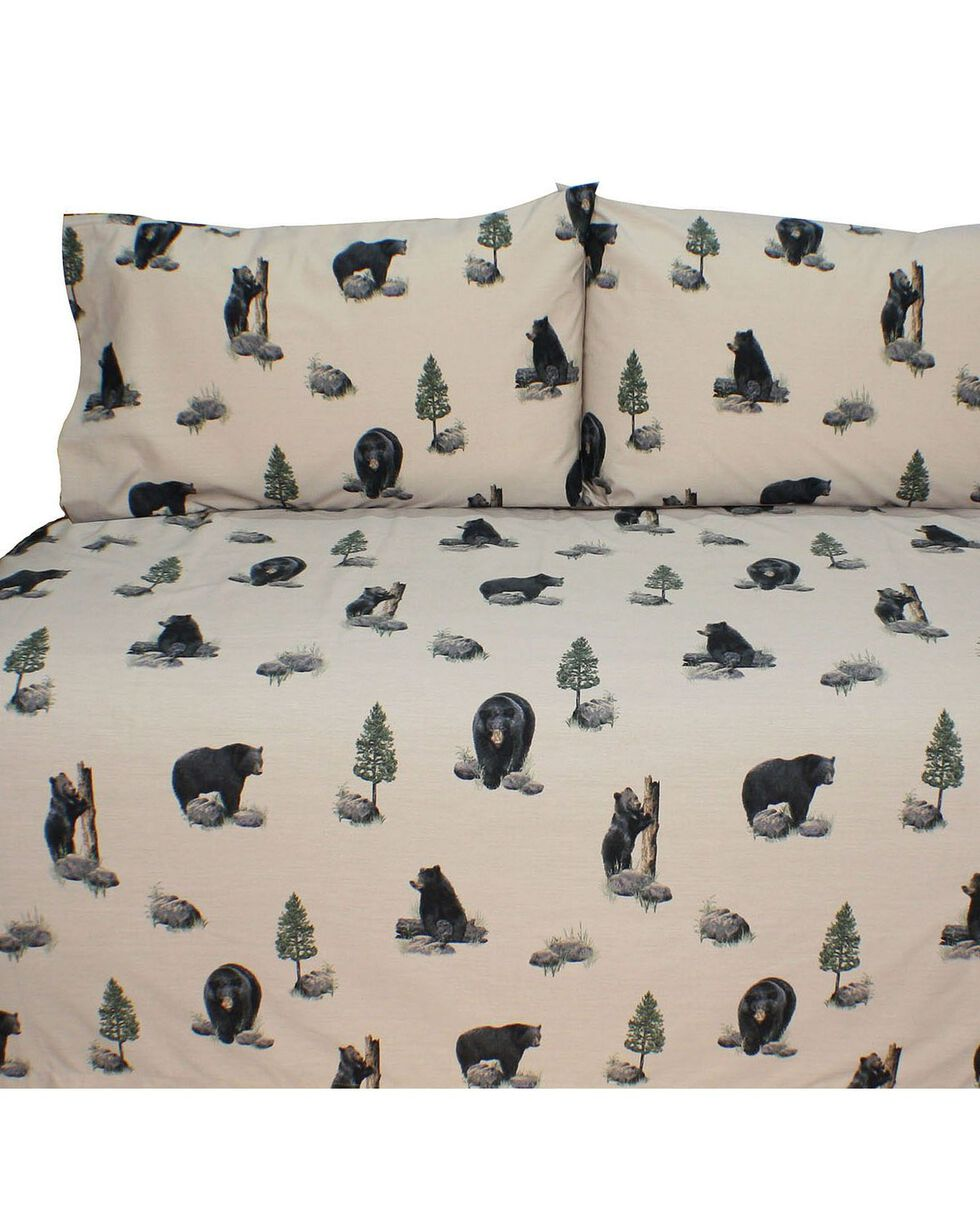 Blue Ridge Trading Bears Full Sheet Set, Black, hi-res