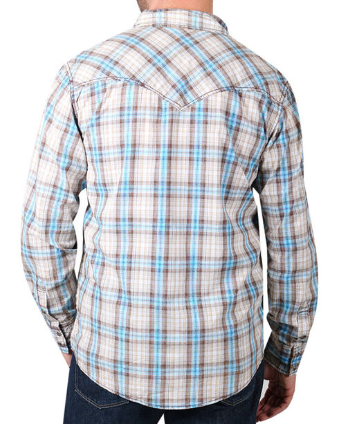 Cody James® Men's Vintage Plaid Long Sleeve Shirt, Tan, hi-res