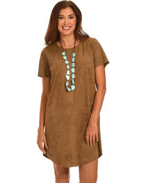 Cowgirl Justice Women's Trail Dust Faux Suede Dress, , hi-res