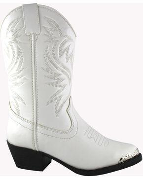 Smoky Mountain Girls' Mesquite Western Boots - Round Toe, White, hi-res