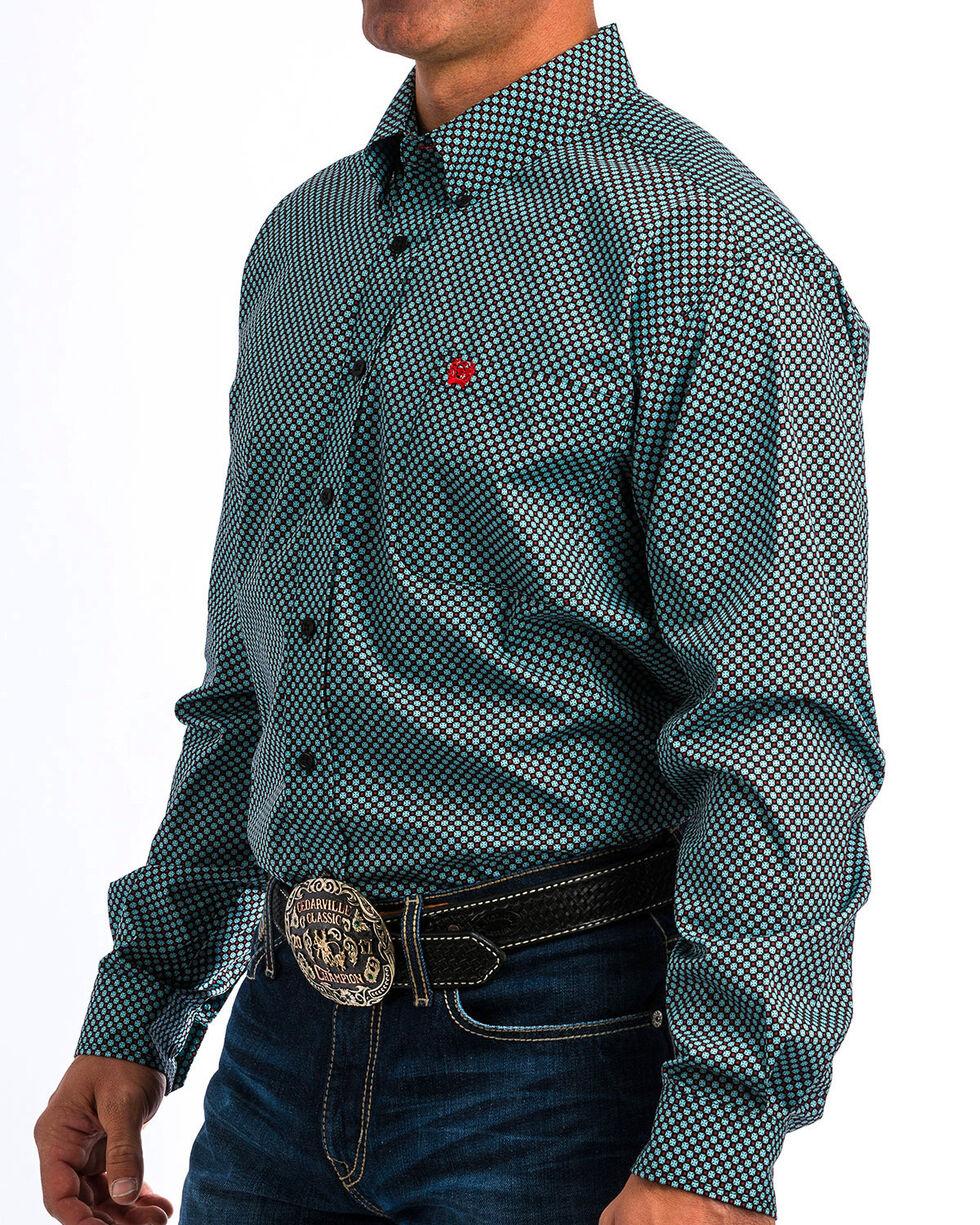 Cinch Men's Black Match Dad Double Print Shirt , Black, hi-res
