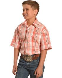 Panhandle Slim Boys' Short Sleeves Snap Plaid Shirt , , hi-res