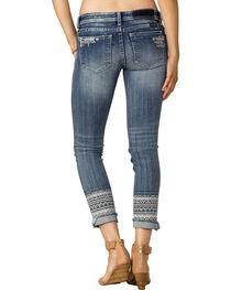 Miss Me Women's Indigo Signature Rise Jeans - Ankle Skinny, , hi-res
