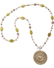 Julie Rose Green Howlite Necklace, , hi-res