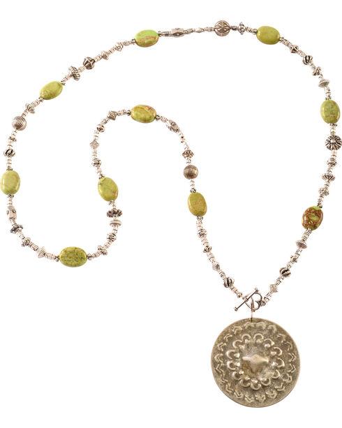 Julie Rose Green Howlite Necklace, Green, hi-res