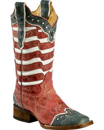 Corral Women's USA Square Toe Western Boots, , hi-res