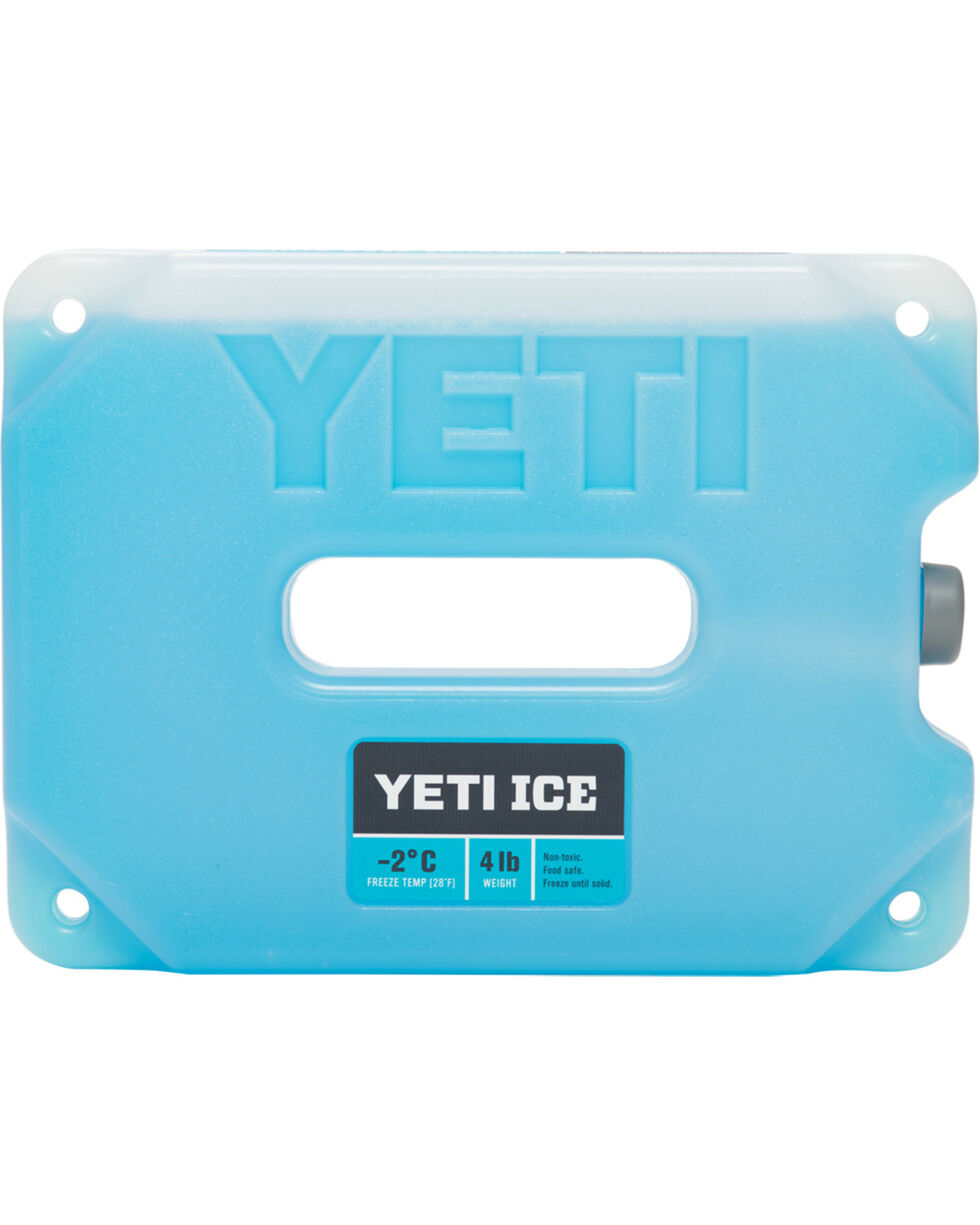 YETI Four-Pound Ice Pack, Blue, hi-res