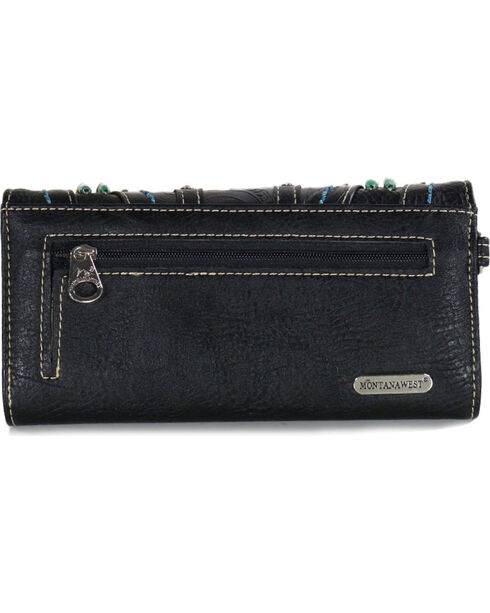 Montana West Women's Full of Faith Tri-Fold Wallet, Black, hi-res