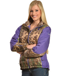 Browning Hell's Belles Plum and Camo Blended Down Jacket, , hi-res