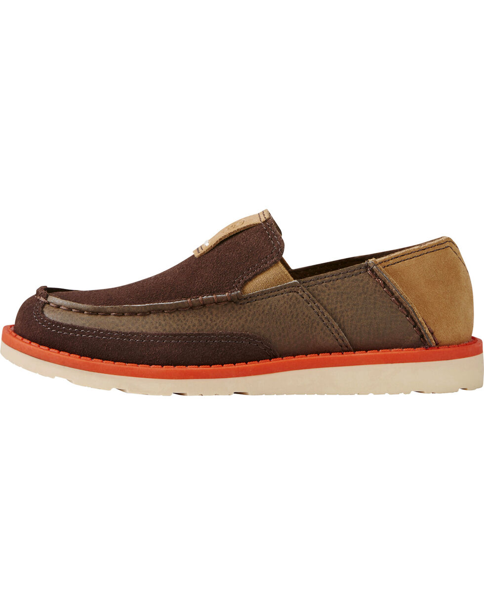 Ariat Youth Boys' Rugged West Slip-On Cruiser Shoes, Chocolate, hi-res