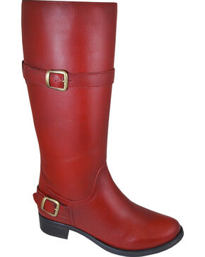 Smoky Mountain Donna Red Tall Riding Boots - Round Toe, Red, hi-res