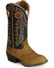 Tony Lama Kid's 3R Saddle Vamp Western Boots, , hi-res