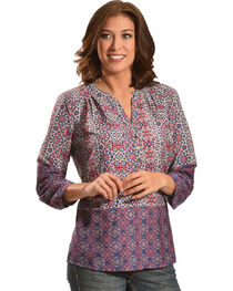 Tantrums Women's Kaleidoscope Print Top  , , hi-res