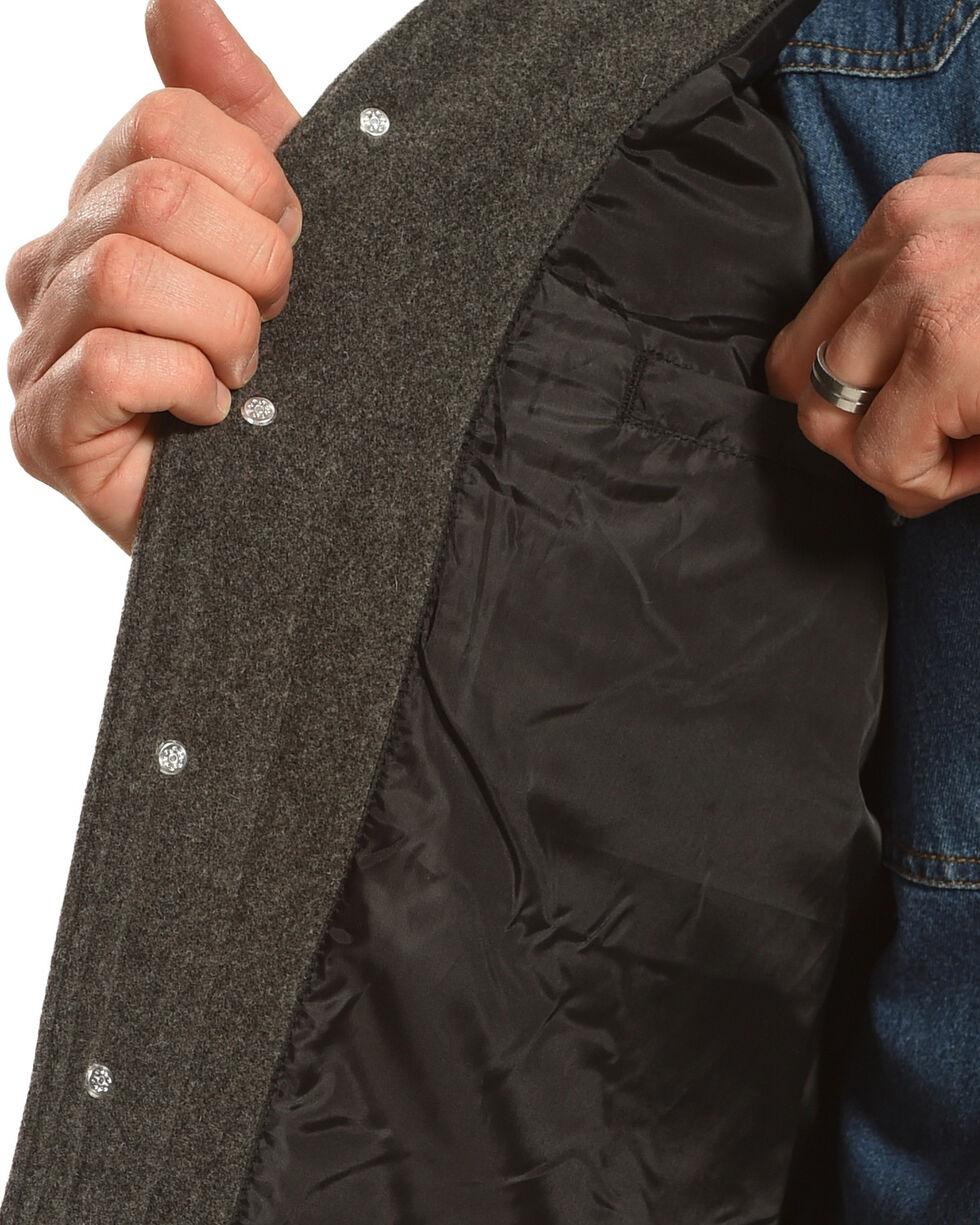 Wyoming Traders Men's Grey Wyoming Wool Vest, Grey, hi-res