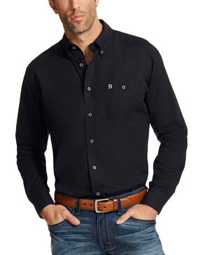 Ariat Men's Black Relentless Ace Long Sleeve Shirt , Black, hi-res