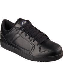 Skechers Men's Black Ossun Slip Resistant Work Shoes , , hi-res