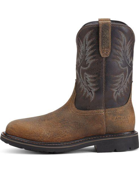 Ariat Men's Sierra Wide Square Steel Toe Work Boots, Earth, hi-res