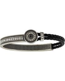 Montana Silversmiths Women's Haloed Horseshoe Lassoed Bangle Attitude Bracelet, , hi-res