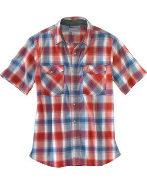Carhartt Men's Rugged Flex Bozeman Short Sleeve Shirt , Chilli, hi-res